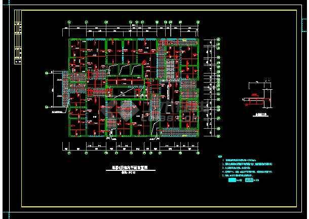 经典41层纯剪力墙住宅楼结构设计cad施工图-图二