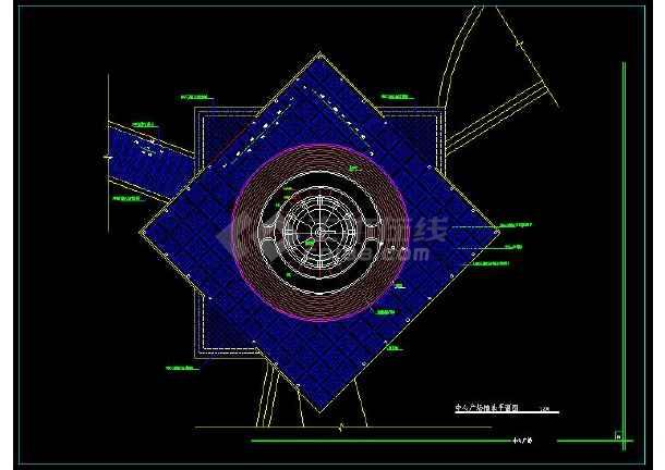 雕塑、休闲、城市广场cad平面设计建筑图-图1