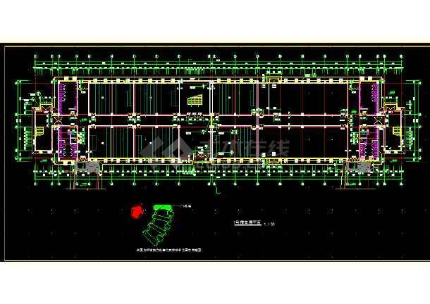 某技术学院教学楼施工设计全套CAD图纸-图1