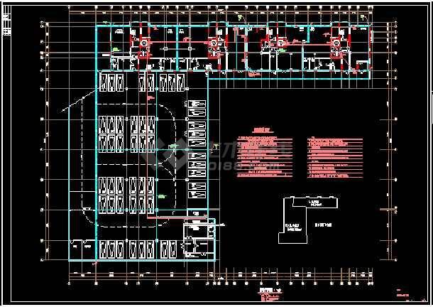 综合楼电力电气设计cad平立面方案施工图-图1