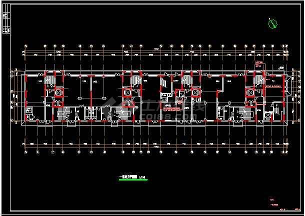 综合楼电力电气设计cad平立面方案施工图-图3