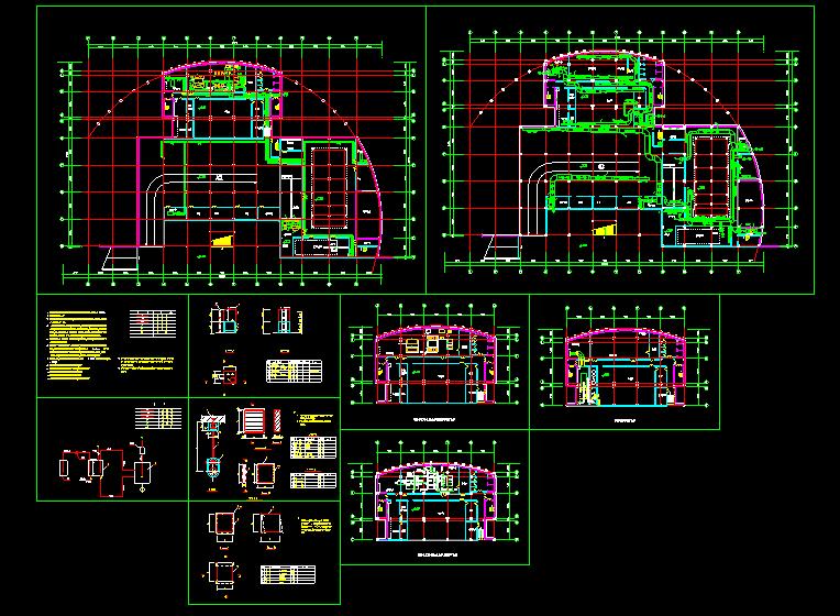 某住宅地下室中央空调全套cad设计施工方案图纸图片1