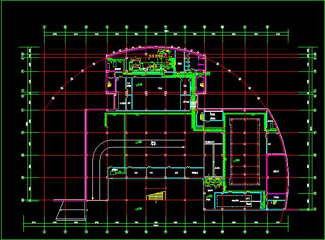 某住宅地下室中央空调全套cad设计施工方案图纸图片2