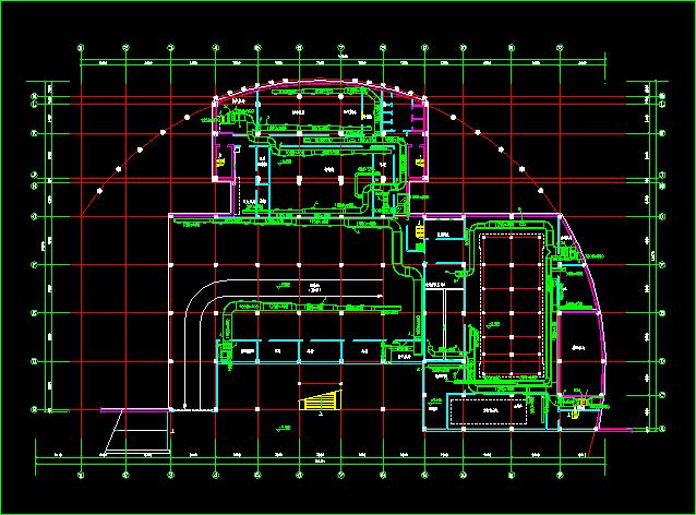 某住宅地下室中央空调全套cad设计施工方案图纸图片3