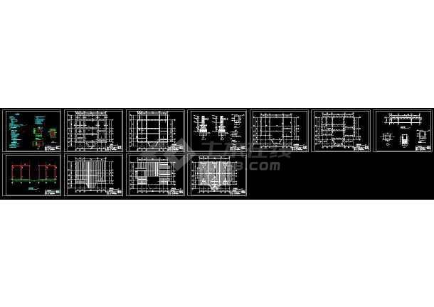 点击查看实木北美式别墅建筑设计cad工程结构图第1张大图