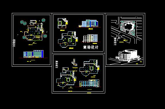 商场设计方案施工CAD大样平立面图纸图片1