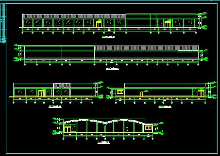 商场设计方案施工平立面CAD建筑图图片2