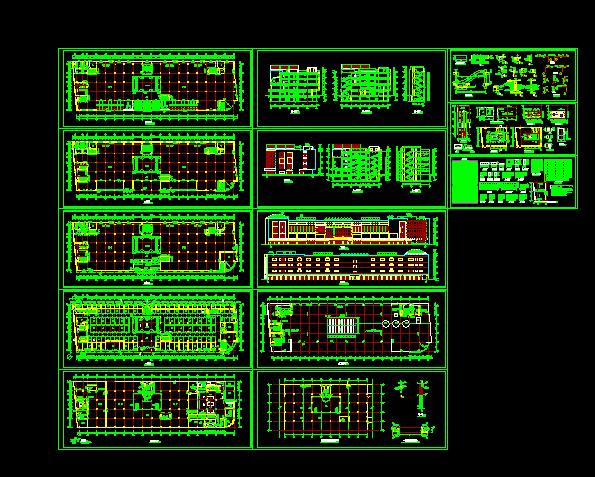 商场设计施工全套平立剖CAD方案图图片1