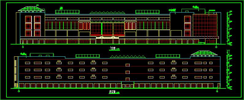 商场设计施工全套平立剖CAD方案图图片2