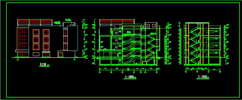商场设计施工全套平立剖CAD方案图图片3