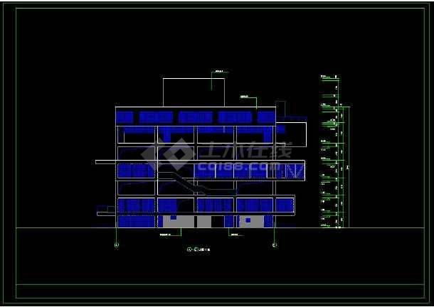 多层办公楼建筑设计CAD方案图纸(含设计说明)-图1