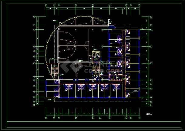 多层办公楼建筑设计CAD方案图纸(含设计说明)-图3
