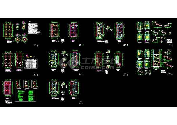 点击查看某厂房配电室结构CAD施工设计平面图纸第1张大图