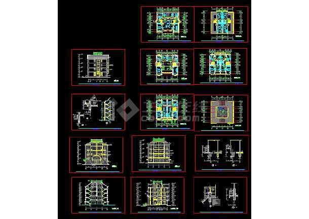 点击查看某小区多层私人住宅建筑cad施工设计图纸第1张大图