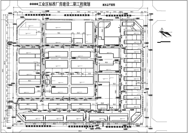 某地小型工业区二期厂房规划建筑设计图图片1