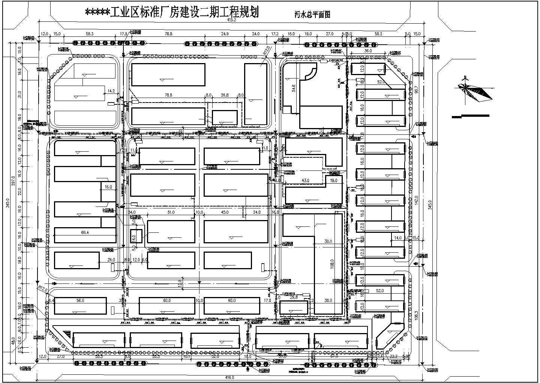 某地小型工业区二期厂房规划建筑设计图图片2