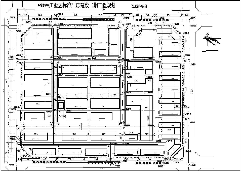 某地小型工业区二期厂房规划建筑设计图图片3