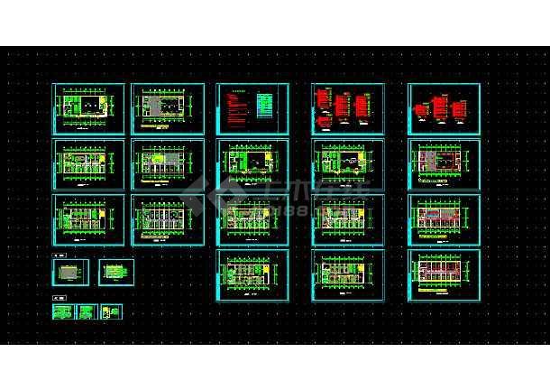 点击查看大型综合楼电气设计方案全套CAD图纸第1张大图
