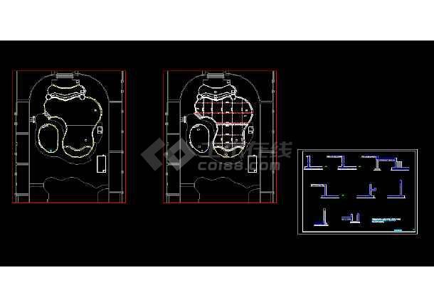 点击查看某游泳池结构图施工图第1张大图