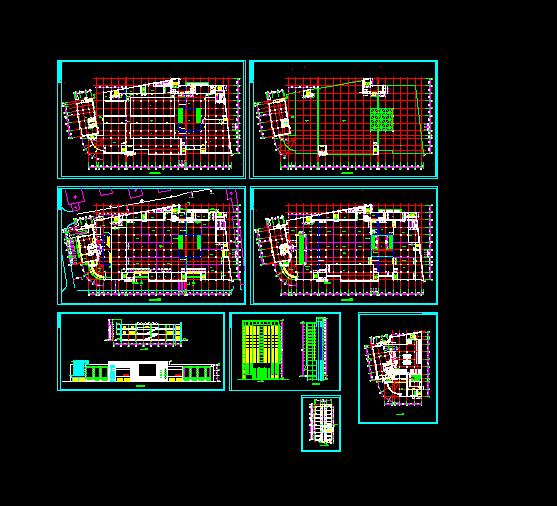 某大型商场设计与施工方案全套CAD图纸图片1