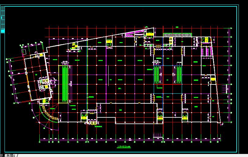某大型商场设计与施工方案全套CAD图纸图片2