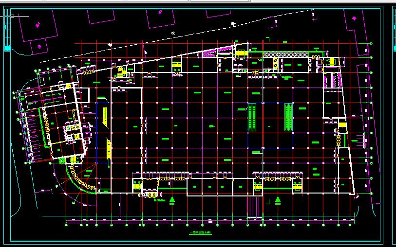 某大型商场设计与施工方案全套CAD图纸图片3