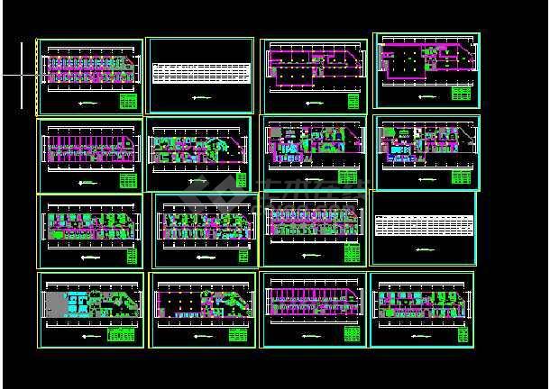 点击查看阿里郎宾馆建施方案设计全套CAD图纸第1张大图