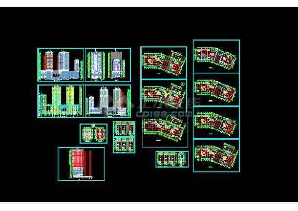 点击查看商业写字楼建筑方案设计全套CAD图纸第1张大图