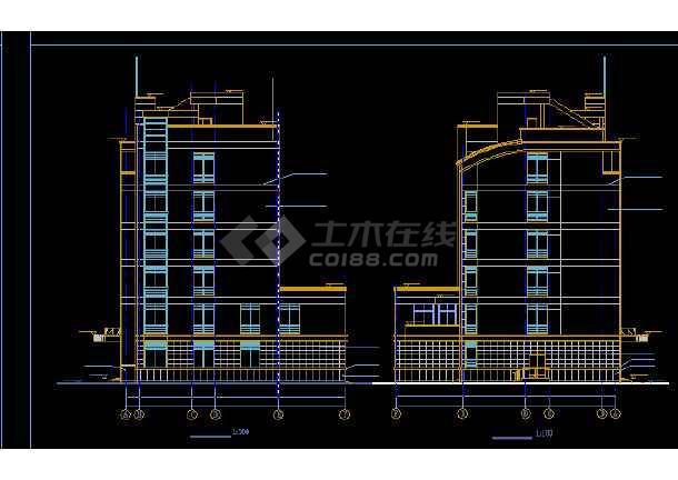 多层办公楼施工与设计方案全套CAD详图-图2