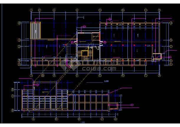多层办公楼施工与设计方案全套CAD详图-图3