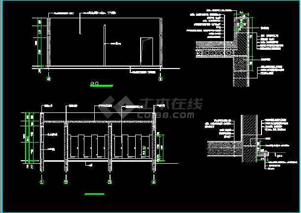 某园林景观公共厕所cad方案设计施工图纸-图1