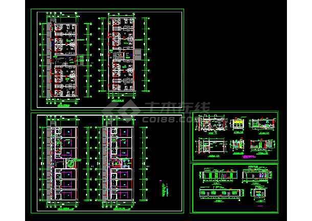 点击查看标准间全套建筑施工设计CAD大样图第1张大图