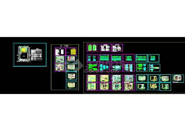 点击查看某药业公司车间水暖电施工设计图纸第1张大图