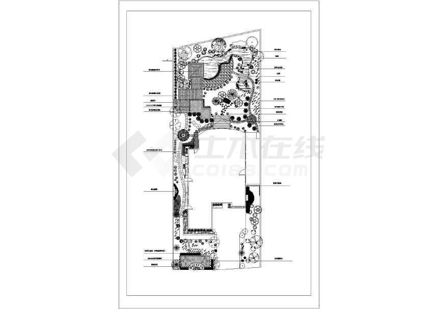 点击查看某地大型详细别墅庭院景观园林设计图第1张大图