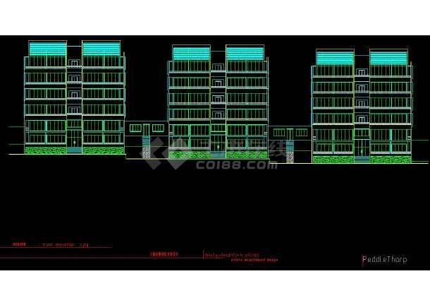 深圳某住宅区别墅建筑设计cad方案图纸-图二