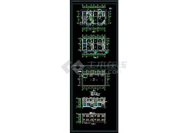 某地简单风格别墅建筑设计cad方案图-图一