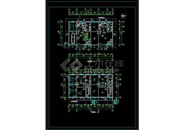 某地简单风格别墅建筑设计cad方案图-图二