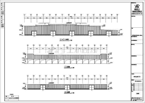 点击查看南京市华洋石材2#厂房施工图(建筑+结构)第1张大图