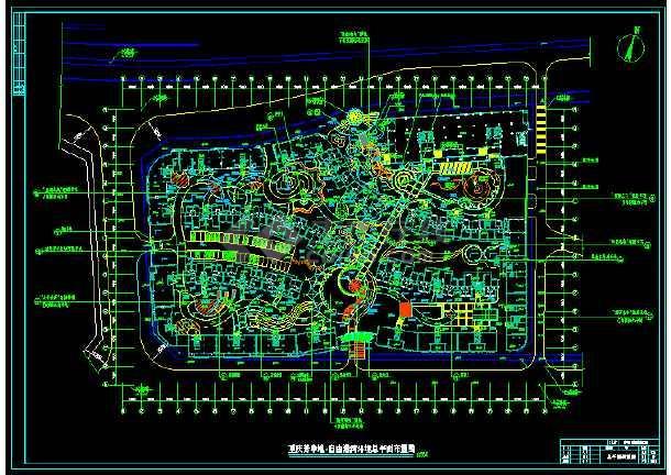 点击查看重庆芳草地自由港湾楼盘景观设计全套施工图第1张大图
