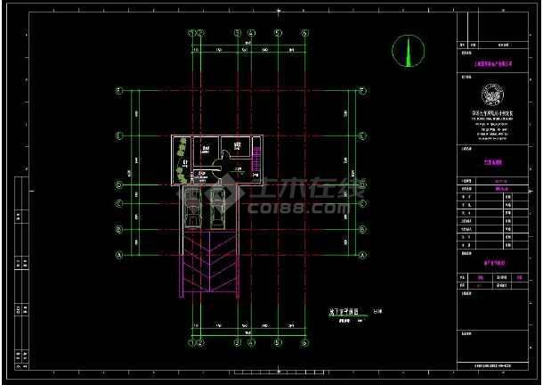 某地多层现代风格小别墅建筑设计cad图-图二