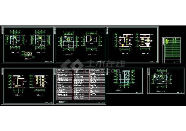 点击查看某地三层住宅别墅建筑设计cad施工图附带效果图第1张大图