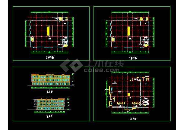 点击查看超市建筑设计施工全套CAD大样图第1张大图
