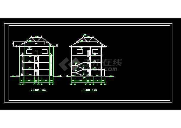 某园林局综合办公楼cad建筑施工设计图-图1