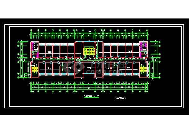 某园林局综合办公楼cad建筑施工设计图-图2