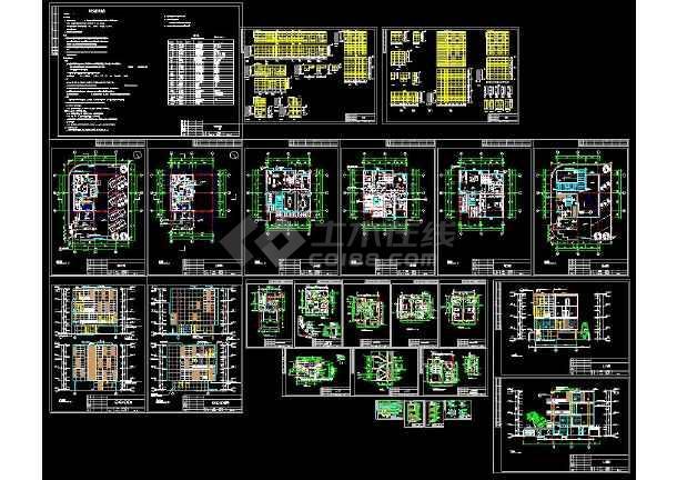 点击查看某地多层现代简约风格别墅建筑设计cad方案图(含设计说明)第1张大图