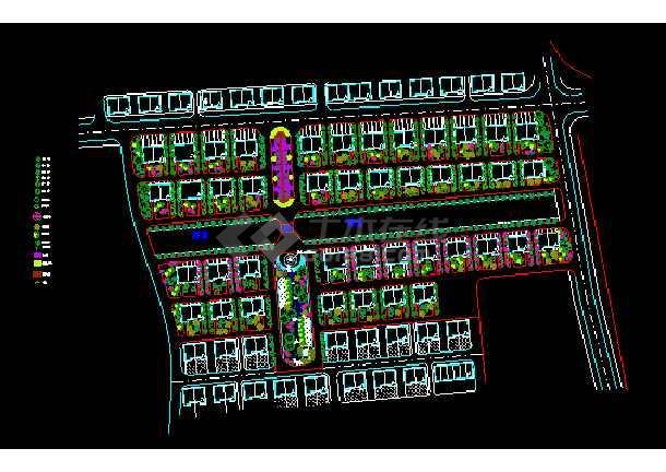 点击查看浙江临海杜桥推船沟村住宅区绿化方案第1张大图