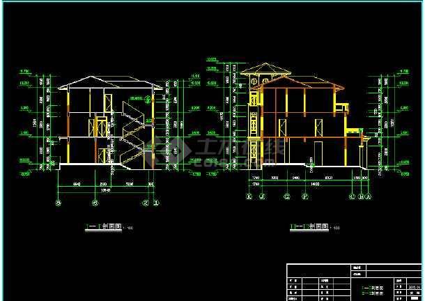 某市区水岸豪门钻石C型别墅CAD图纸-图二