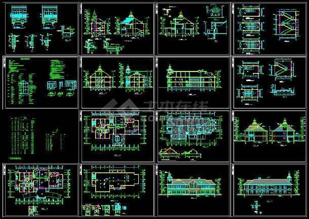 点击查看某地山庄会馆建筑cad设计施工图(含设计说明)第1张大图