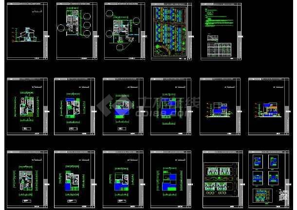 某地简单现代风格别墅建筑设计CAD方案图-图一