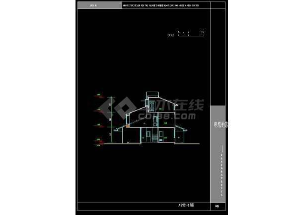 某地简单现代风格别墅建筑设计CAD方案图-图二